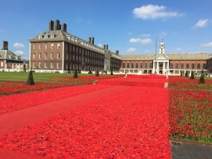 Chelsea Flower Show jardin rouge