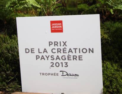 Prix de la création paysagère 2013
