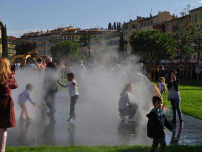 brumisation animation jeu d'eau enfants