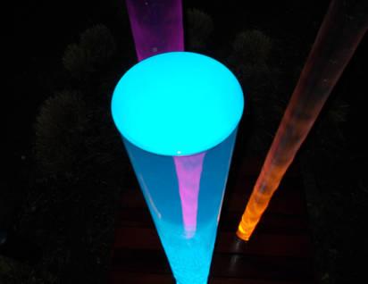colonne d'eau colorée