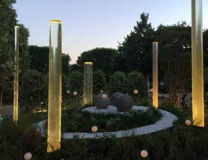 colonne d'eau vortex jardin jardins 2015
