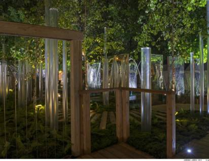 colonne d'eau jardin jardins 2013