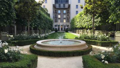 photo d'une fontaine de l'hôtel ritz