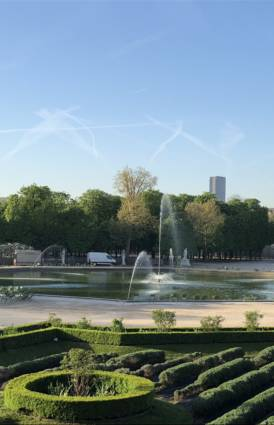 La fontaine du Jardin des Tuileries