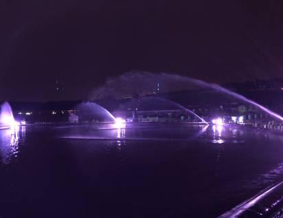 La fontaine Jardin des Tuileries de nuit