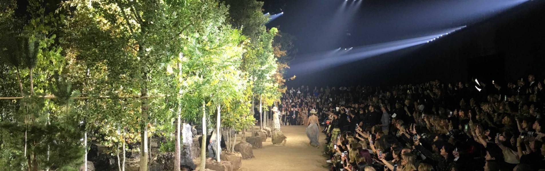 Maison Dior: défilé de belles plantes à la Paris Fashion Week